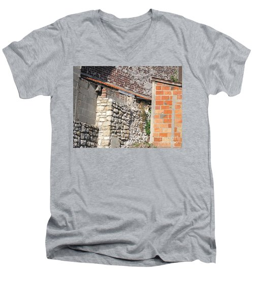 French Farm Wall Men's V-Neck T-Shirt by HEVi FineArt
