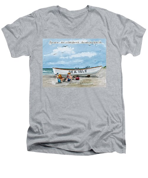 Friends By The Sea  Men's V-Neck T-Shirt