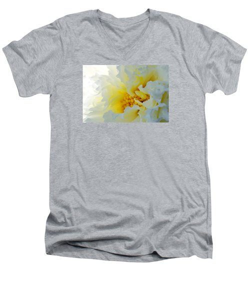 Men's V-Neck T-Shirt featuring the photograph Frilling by Wendy Wilton