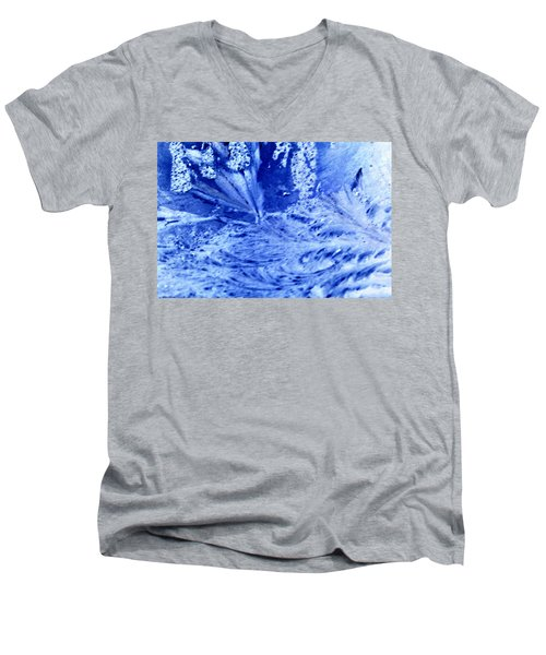 Men's V-Neck T-Shirt featuring the digital art Frocean by Richard Thomas