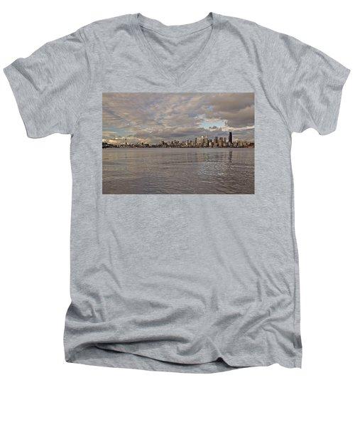 from Alki Beach Seattle skyline Men's V-Neck T-Shirt