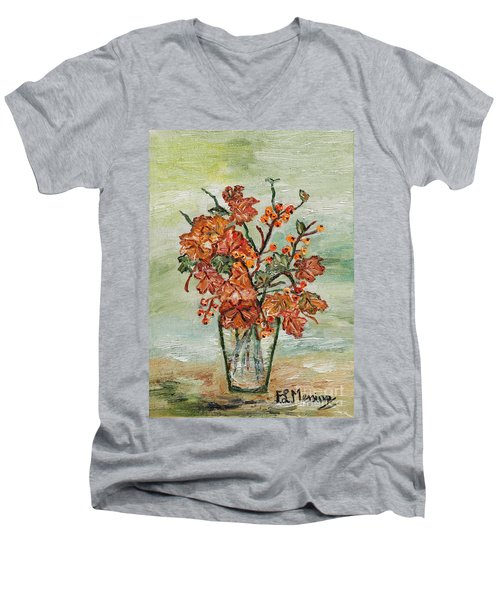 From The Garden Men's V-Neck T-Shirt by Loredana Messina