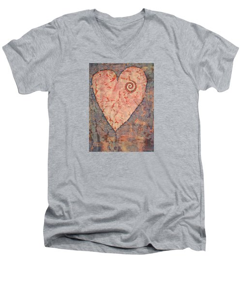 From The Heart Men's V-Neck T-Shirt by Lynda Hoffman-Snodgrass