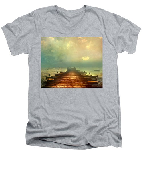 From The Moon To The Mist Men's V-Neck T-Shirt