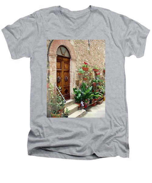 Front Door Men's V-Neck T-Shirt by Ellen Henneke