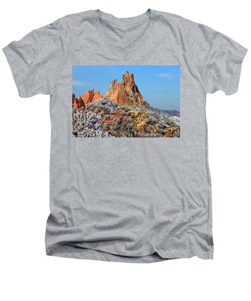 Frosted Wonderland 4 Men's V-Neck T-Shirt