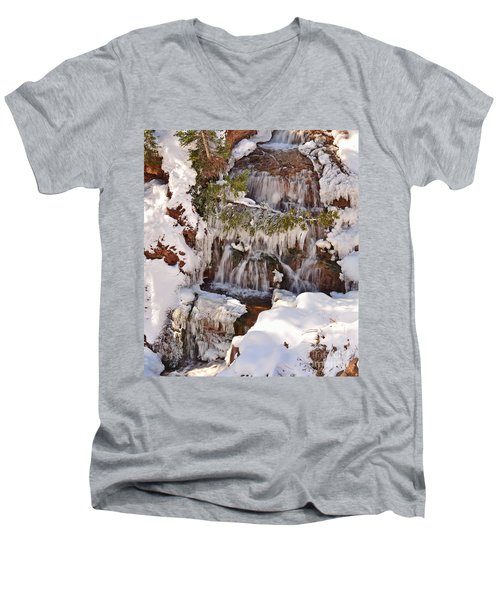 Frosty Cascades Men's V-Neck T-Shirt
