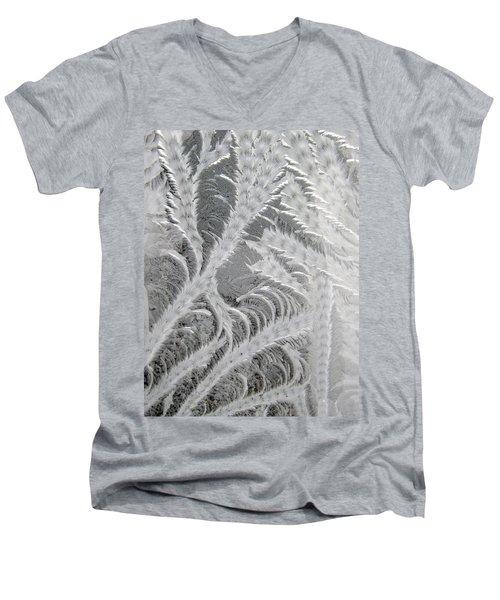 Frosty Window Art Men's V-Neck T-Shirt