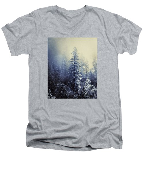 Frozen In Time Men's V-Neck T-Shirt by Melanie Lankford Photography