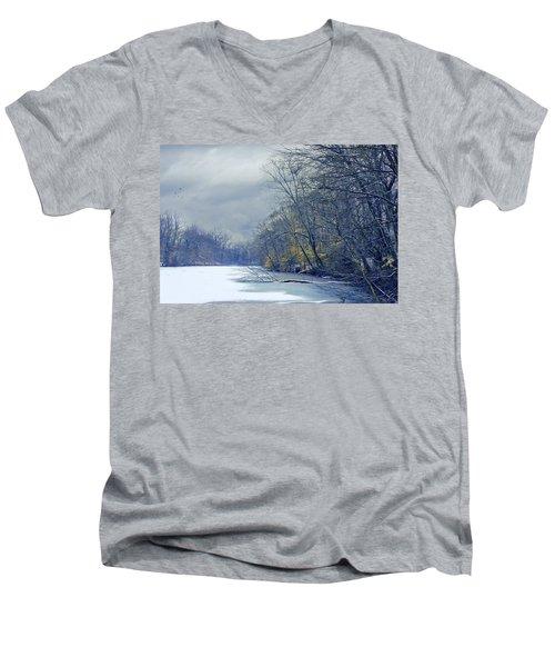 Frozen Pond Men's V-Neck T-Shirt