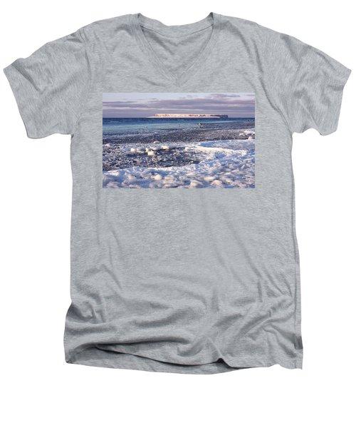 Frozen Shore Men's V-Neck T-Shirt