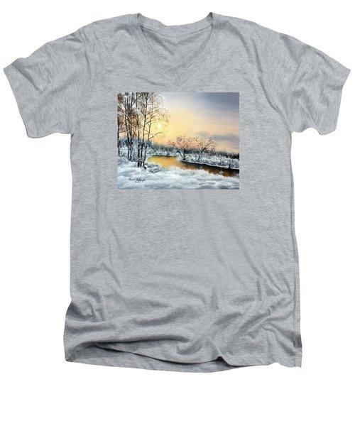 Frozen Men's V-Neck T-Shirt by Vesna Martinjak