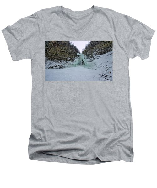 Frozen Waterfalls Men's V-Neck T-Shirt