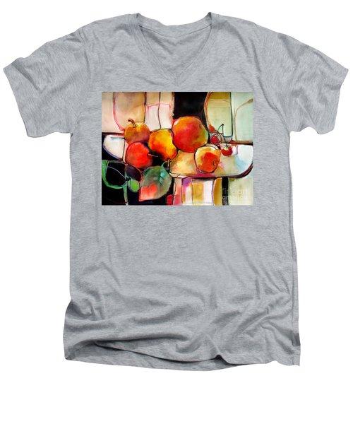 Fruit On A Dish Men's V-Neck T-Shirt