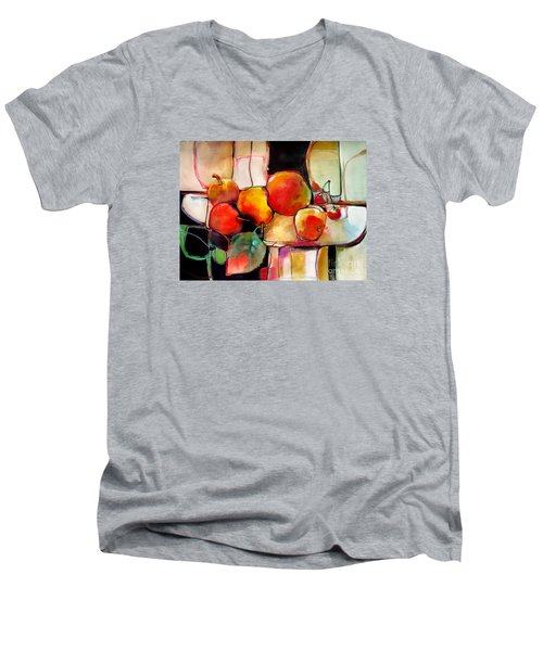 Fruit On A Dish Men's V-Neck T-Shirt