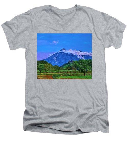 Fuego Volcano Guatamala Men's V-Neck T-Shirt