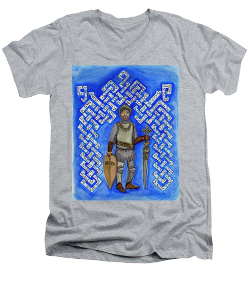 Full Armor Of Yhwh Man Men's V-Neck T-Shirt