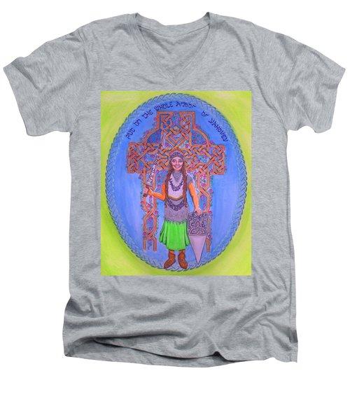 Full Armor Of Yhwh Woman Men's V-Neck T-Shirt by Hidden  Mountain