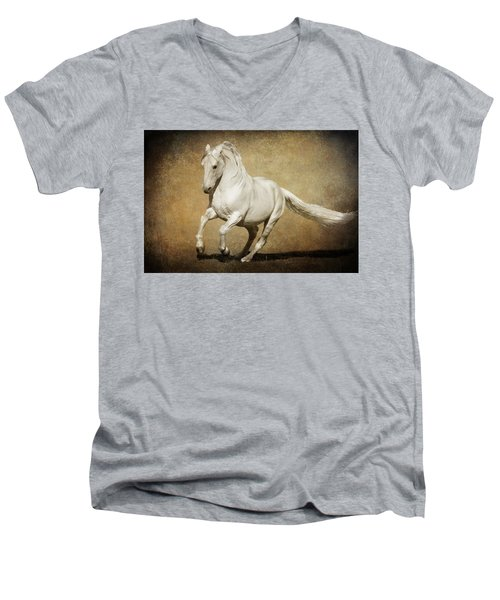 Full Steam Ahead Men's V-Neck T-Shirt by Wes and Dotty Weber
