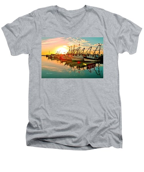Fulton Harbor Men's V-Neck T-Shirt