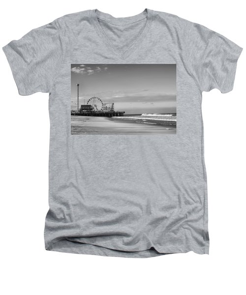 Funtown Pier Seaside Heights New Jersey  Men's V-Neck T-Shirt
