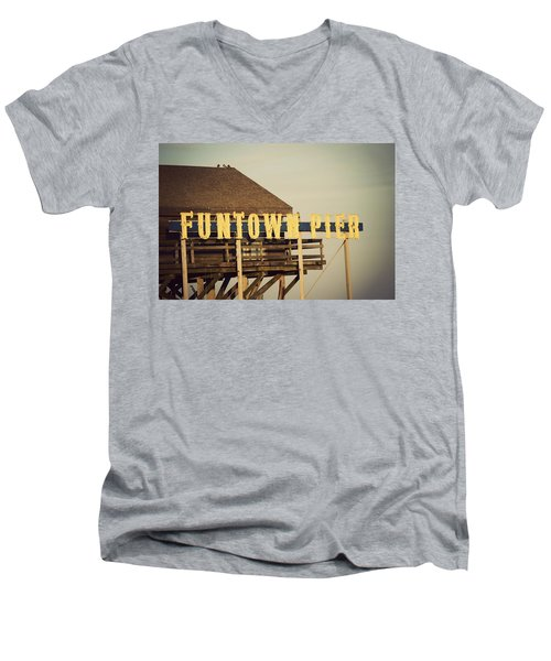 Funtown Vintage Men's V-Neck T-Shirt