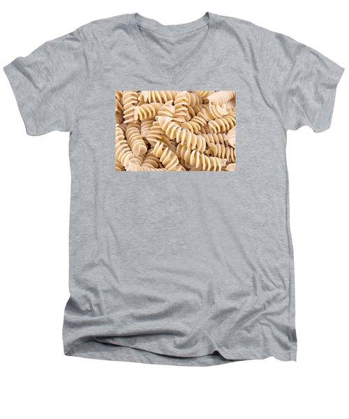 Fusilli Rotini Pasta  Men's V-Neck T-Shirt by Vizual Studio