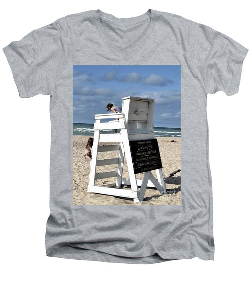 Future Life Guards Men's V-Neck T-Shirt