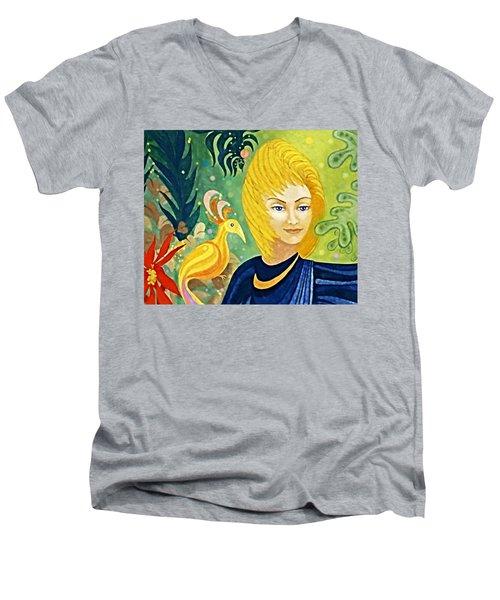 Gaia - Spirit Of Nature Men's V-Neck T-Shirt