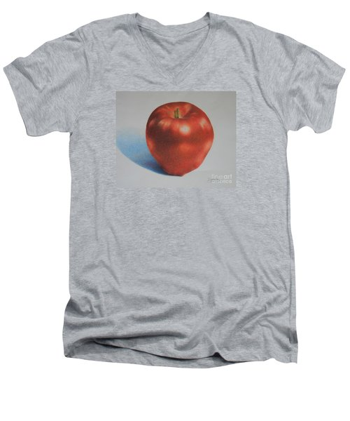Men's V-Neck T-Shirt featuring the painting Gala by Pamela Clements