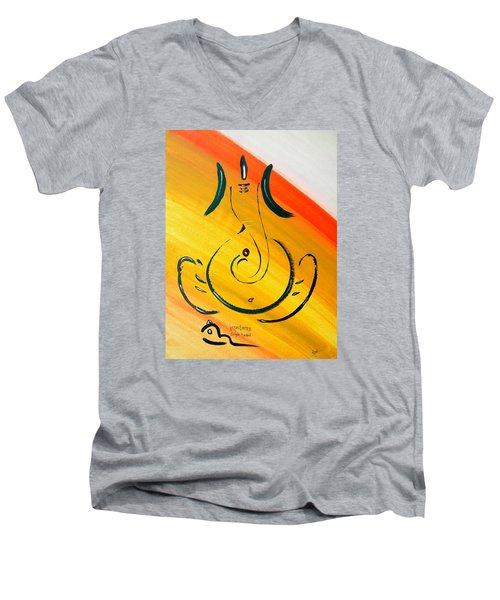 8 Ganesh Ekdhantaya Men's V-Neck T-Shirt