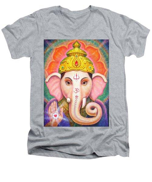 Ganesha's Blessing Men's V-Neck T-Shirt