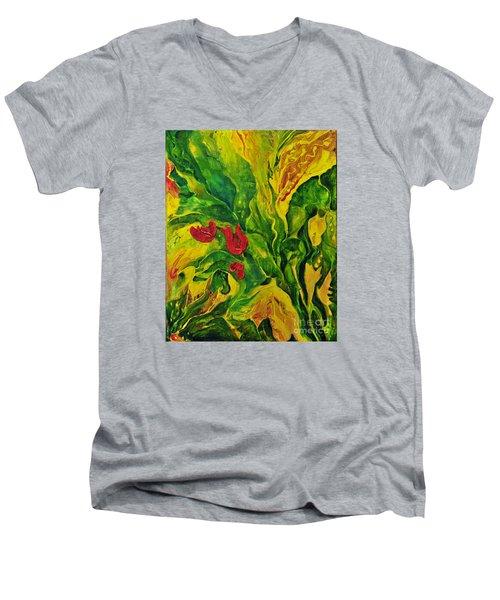 Garden Series No.2 Men's V-Neck T-Shirt by Teresa Wegrzyn