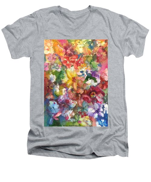 Garden - The Secret Life Of The Leftover Paint Men's V-Neck T-Shirt