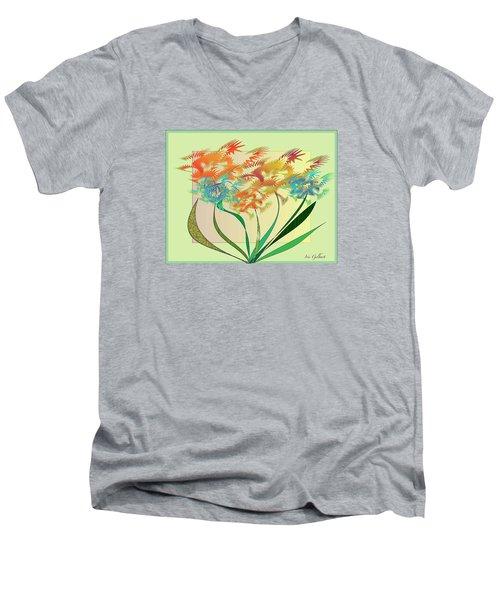 Garden Wonder Men's V-Neck T-Shirt by Iris Gelbart