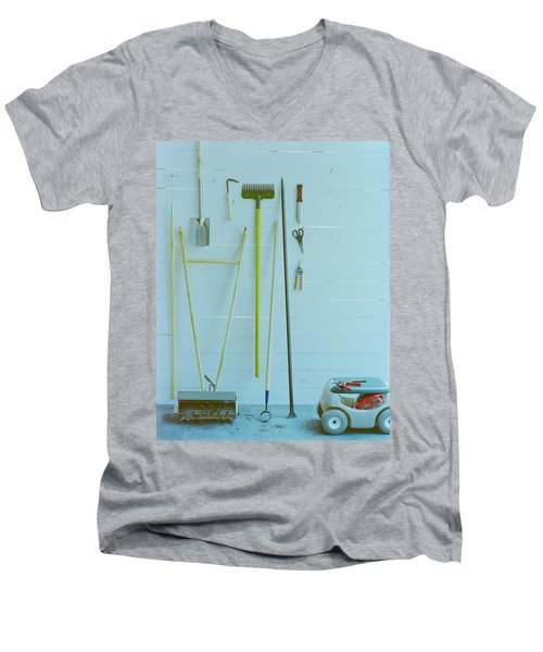 Gardening Tools Men's V-Neck T-Shirt