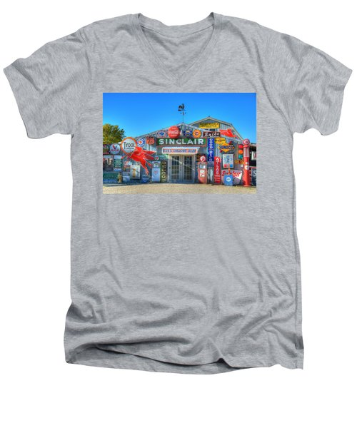 Gasoline Alley Men's V-Neck T-Shirt by Steve Stuller