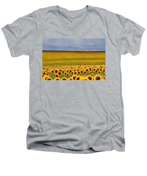 Gateway To The Rockies Men's V-Neck T-Shirt