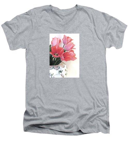 Gathered Tulips Men's V-Neck T-Shirt