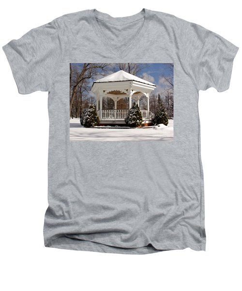 Gazebo At Olmsted Falls - 2 Men's V-Neck T-Shirt