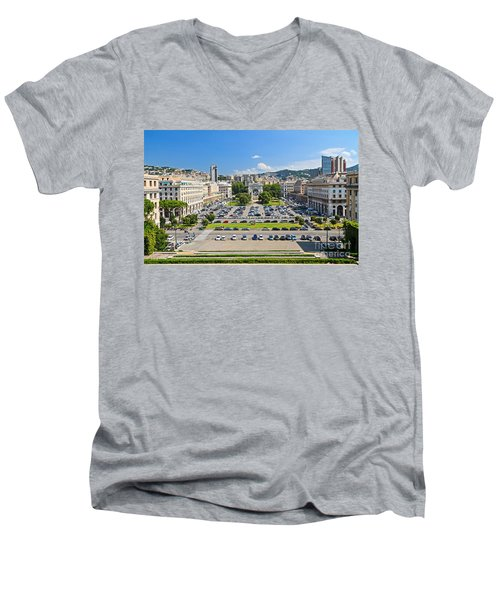 Genova - Piazza Della Vittoria Overview Men's V-Neck T-Shirt