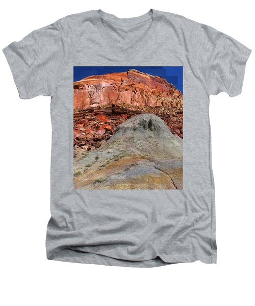 Geology Triptych - One Men's V-Neck T-Shirt