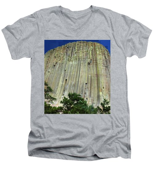Geology Triptych - Two Men's V-Neck T-Shirt