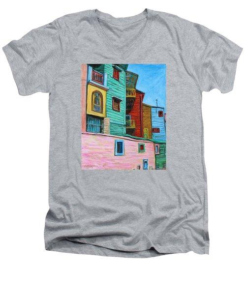 Geometric Colours II Men's V-Neck T-Shirt by Xueling Zou