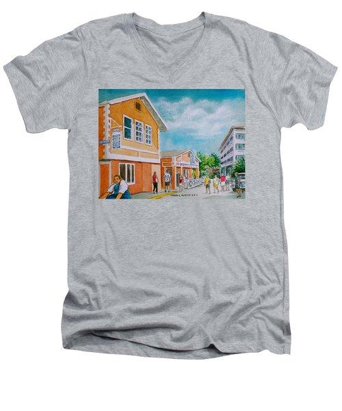 Georgetown Grand Cayman Men's V-Neck T-Shirt