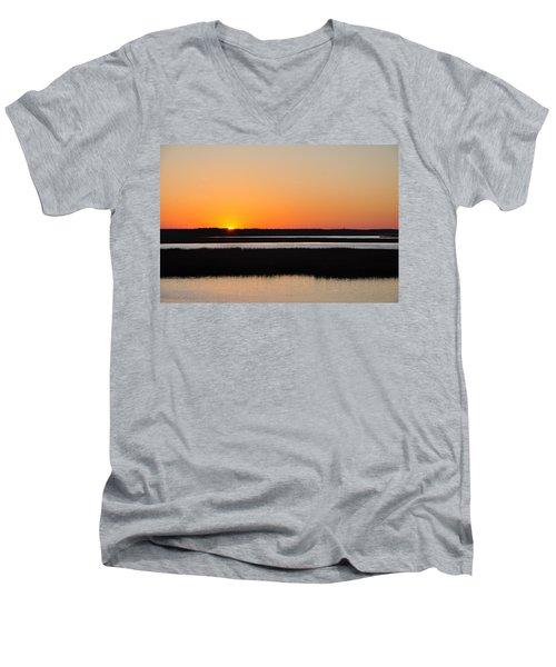 Georgia Sunset Men's V-Neck T-Shirt