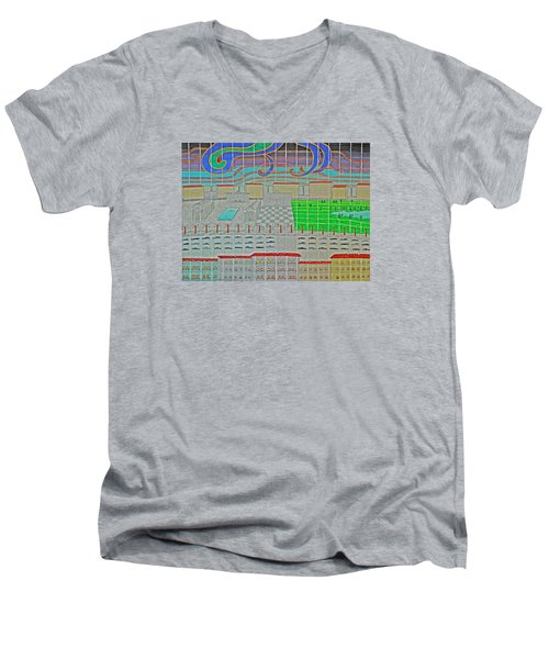 German Cityscape Men's V-Neck T-Shirt