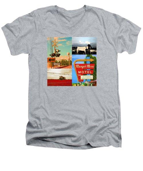 Getting My Kicks On Route 66 Men's V-Neck T-Shirt