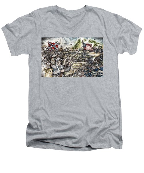 Gettysburg Ash's At The Angle Men's V-Neck T-Shirt