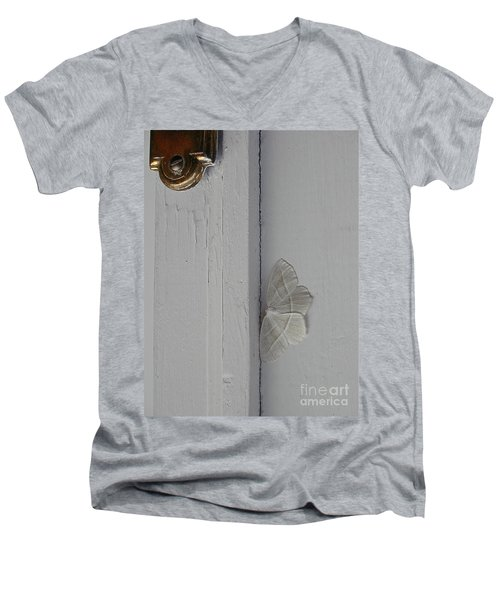 Ghost Doorbell Moth Men's V-Neck T-Shirt